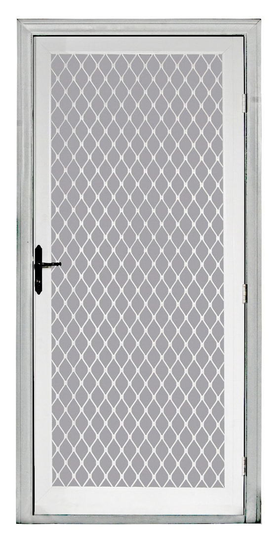 Security screen doors aluminum security screen door - White security screen door ...