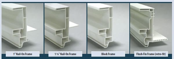 Gentry Vinyl Window Frame Types